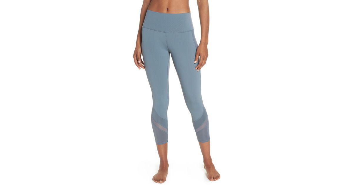 3b1e8c4b274c23 Alo Yoga Elevate High Waist Capri Leggings in Blue - Lyst
