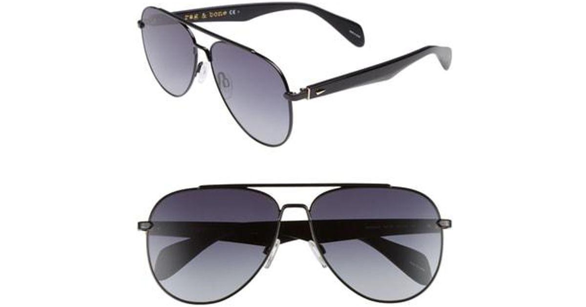 f8970b45315d Lyst - Rag & Bone 62mm Aviator Gradient Sunglasses in Black for Men