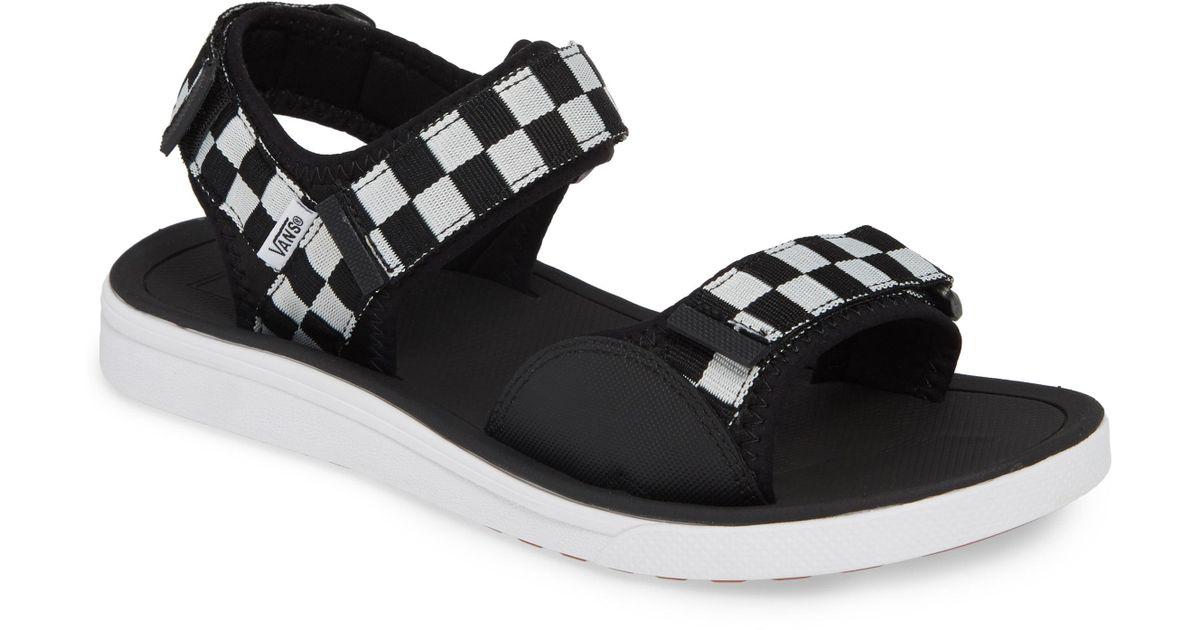 3e8f5750f613 Lyst - Vans Ultrarange Tri Lock Sport Sandal in Black for Men