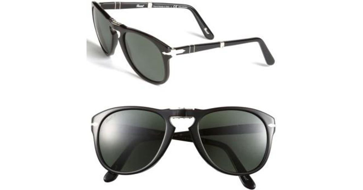 4fa1f9c22d Lyst - Persol  714  57mm Folding Polarized Keyhole Sunglasses in Black for  Men
