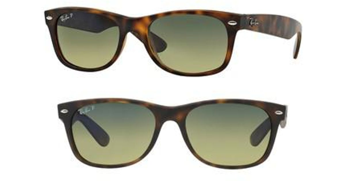 57d3461492 Lyst - Ray-Ban Standard New Wayfarer 55mm Polarized Sunglasses - Havana in  Green