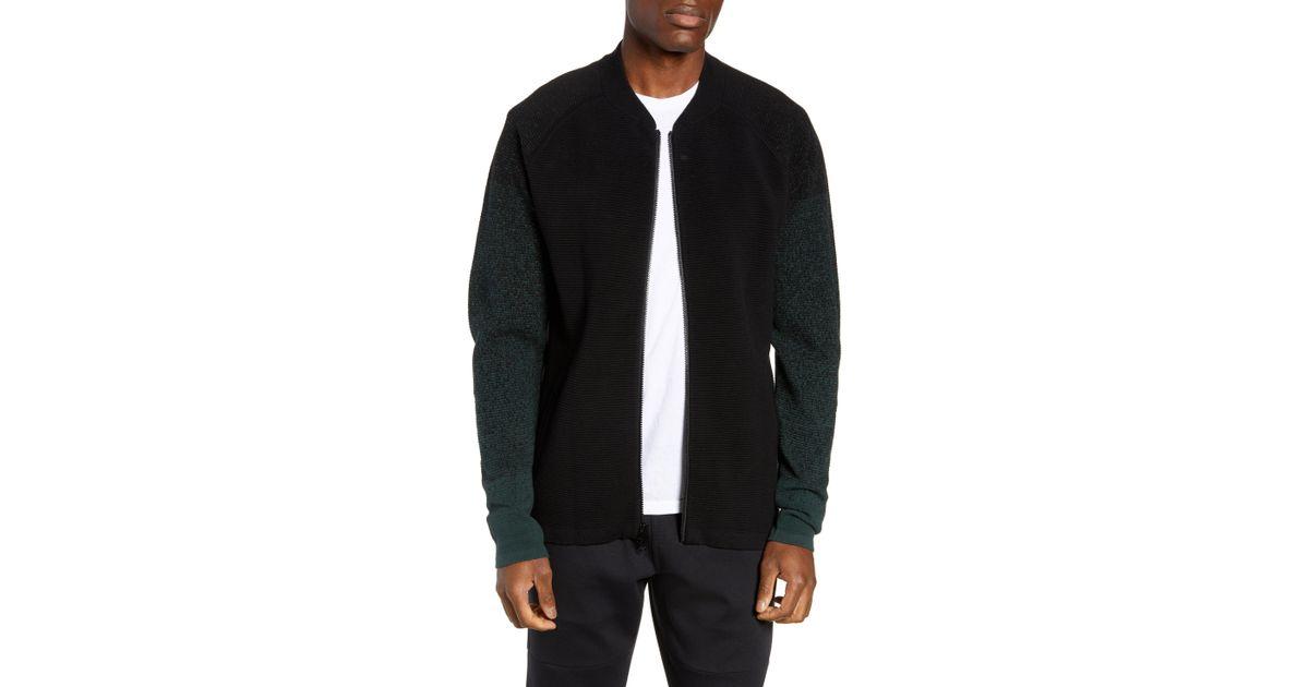 54b611564 Zella Black Sweater Fleece Bomber Jacket for men