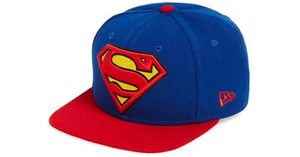 Lyst - KTZ  superman  Snapback Cap in Blue for Men 7af7bccf4f43