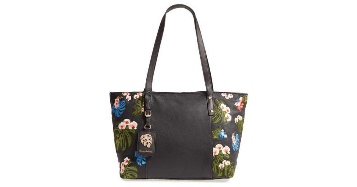 Tommy Bahama Cozumel Tote (Black) Tote Handbags M6h3UDm9