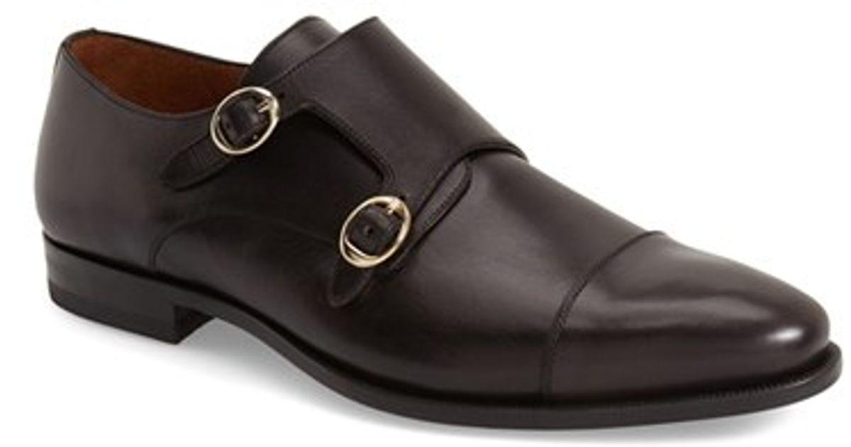 9a7311372b4e1 Mezlan - Black 'rosales' Double Monk Strap Shoe for Men - Lyst
