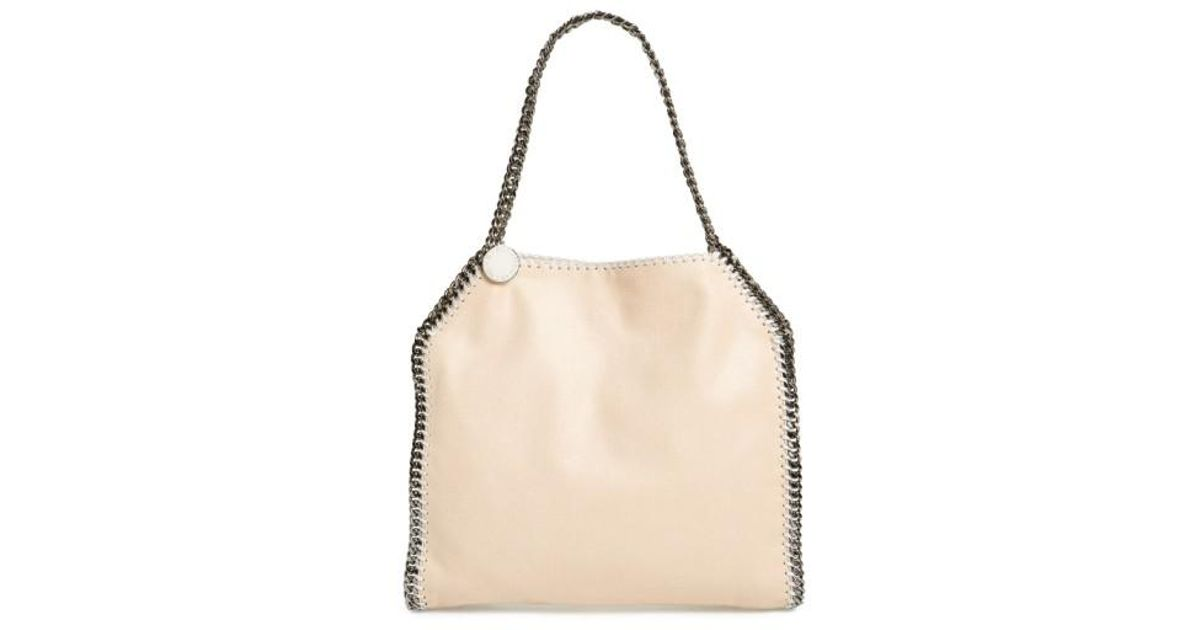 f870758edc57 Lyst - Stella Mccartney  small Falabella - Shaggy Deer  Faux Leather Tote  in Natural