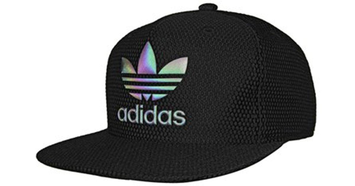 release date: c0c30 d4e22 ... coupon code for adidas originals trefoil reflective snapback cap in  black lyst 419d7 4db5d