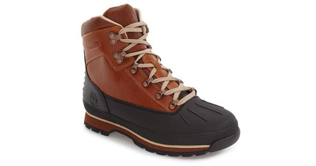 b2b628be8a4 Timberland - Brown Euro Waterproof Hiking Boot for Men - Lyst