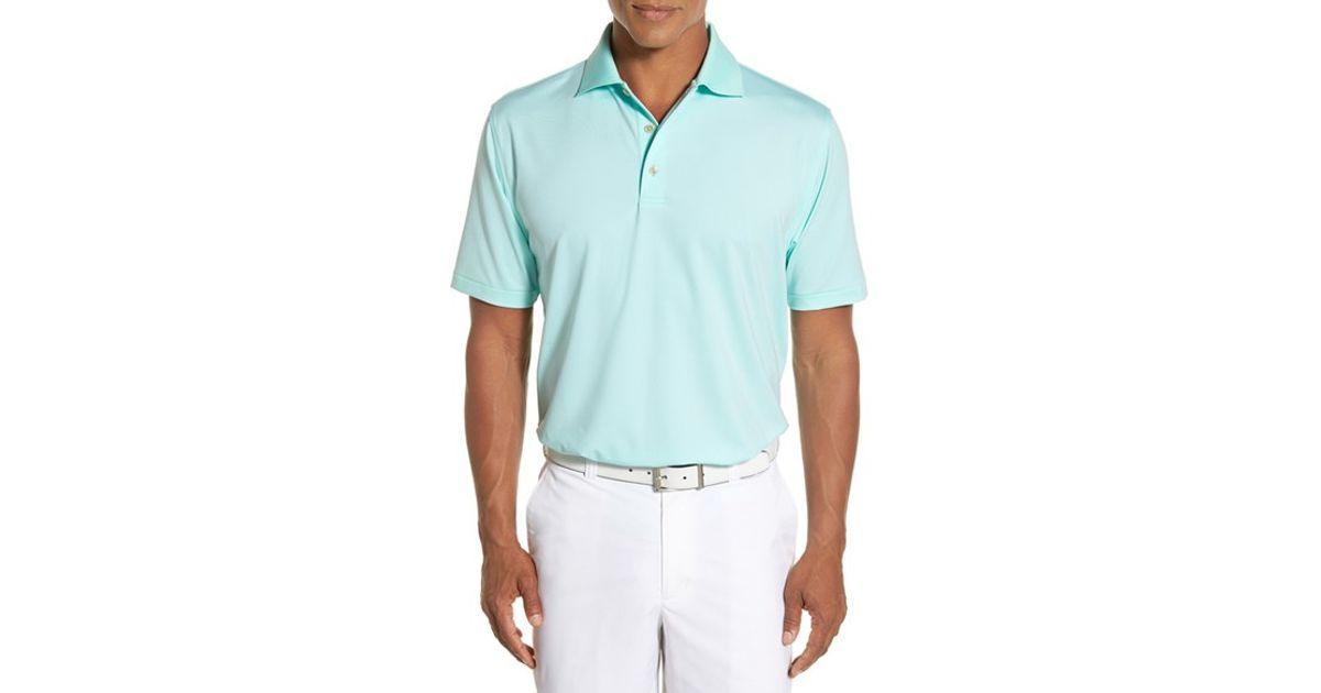 Lyst peter millar 39 nena 39 stripe stretch microfiber golf for Peter millar golf shirts