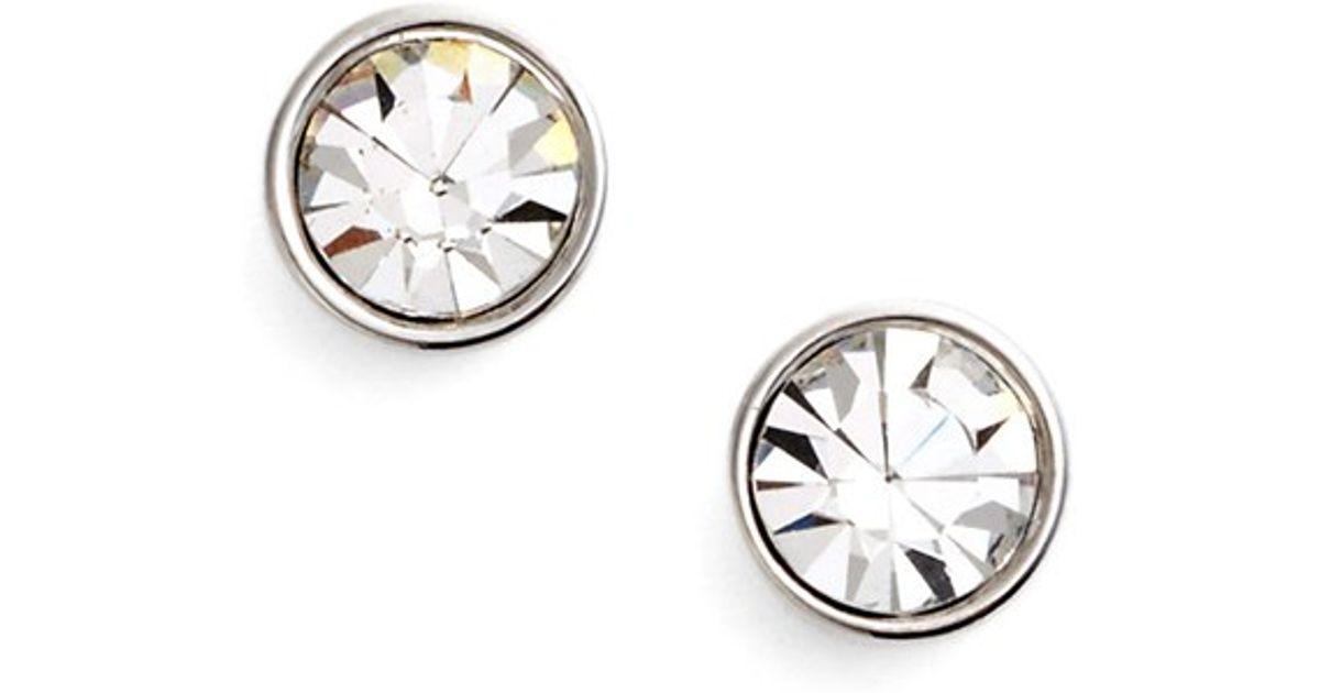 3de5b8f0f Lyst - Kate Spade 'forever' Stud Earrings in Metallic