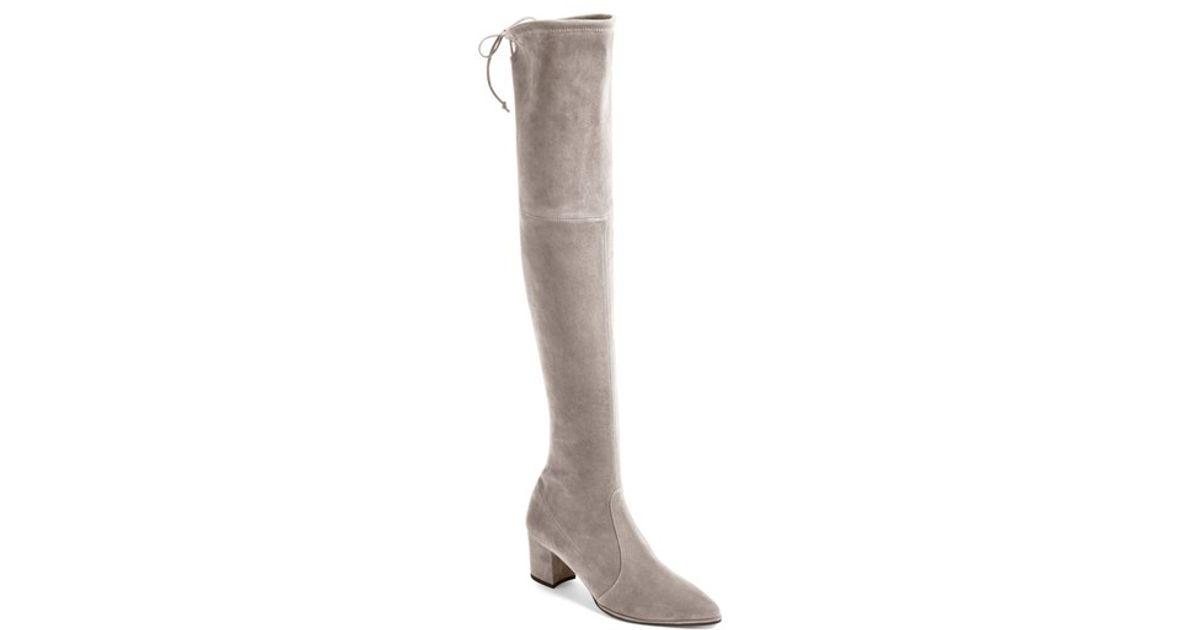 stuart weitzman thighland the knee boot in brown lyst