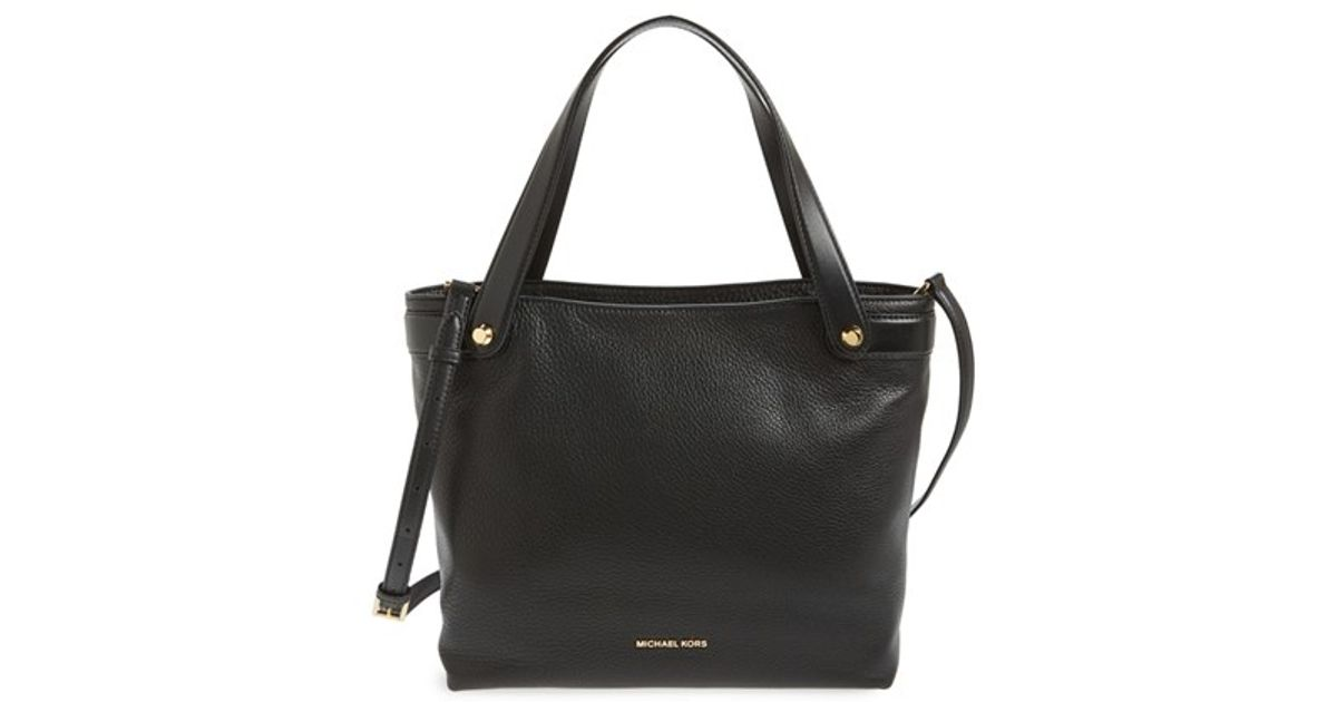 5cccb975d4b1 MICHAEL Michael Kors 'medium Hyland Convertible' Leather Shoulder Tote in  Black - Lyst