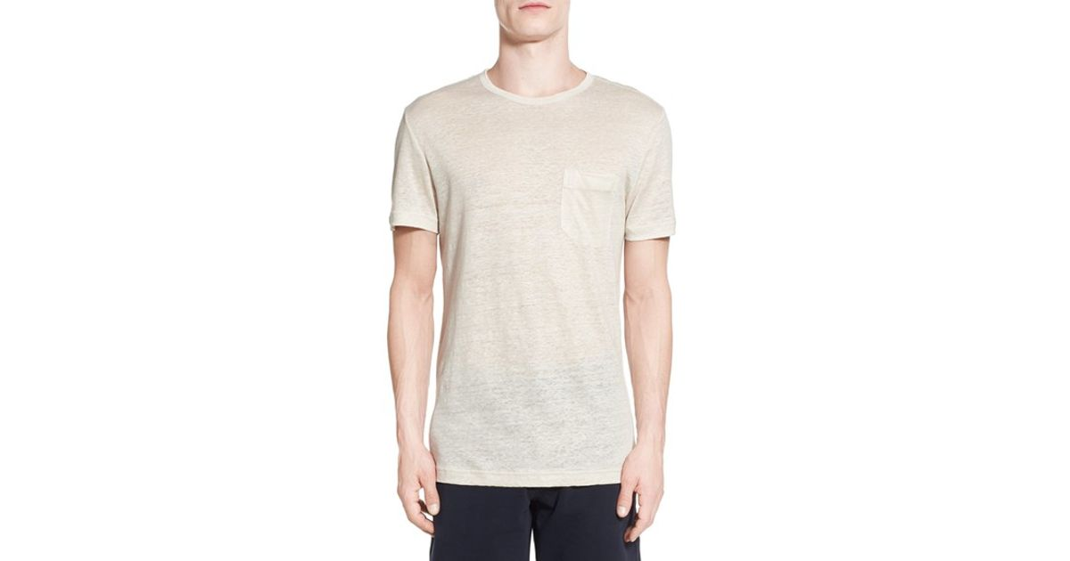 Slate And Stone Clothing : Slate stone crewneck pocket t shirt in natural for men
