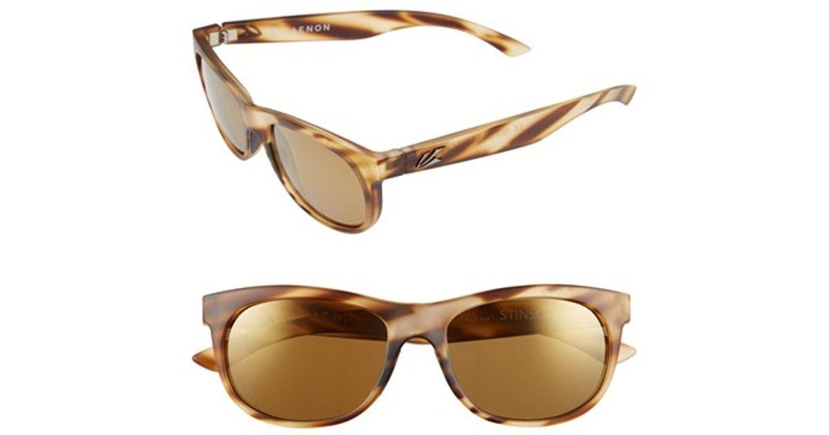 d8e5d50642 Lyst - Kaenon  stinson  54mm Polarized Sunglasses - Driftwood
