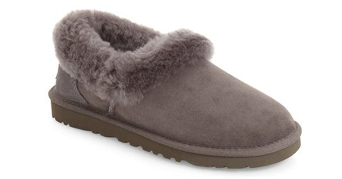 33863976f0e Lyst - UGG Ugg Nita Genuine Shearling Slipper in Gray