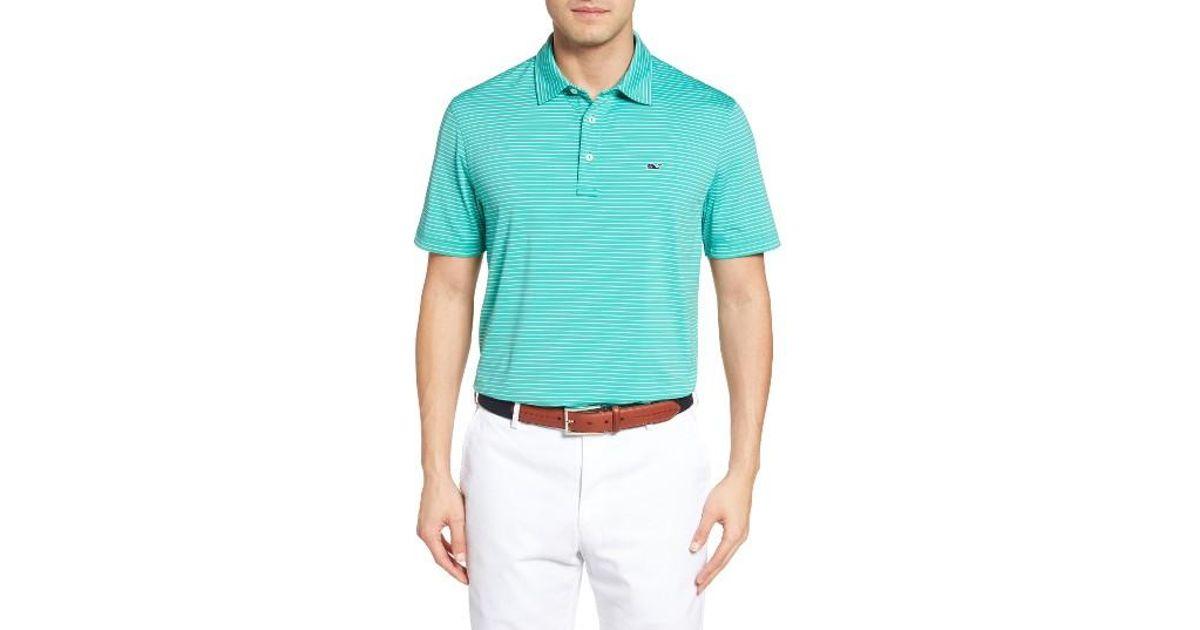 71e2872cf Lyst - Vineyard Vines  wilson  Stripe Jersey Polo in Green for Men