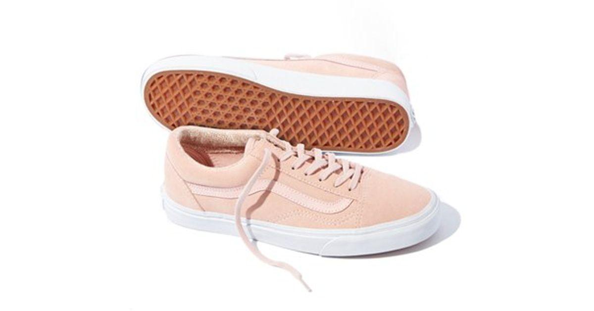6770447539 Lyst - Vans Old Skool Suede Sneakers in Orange