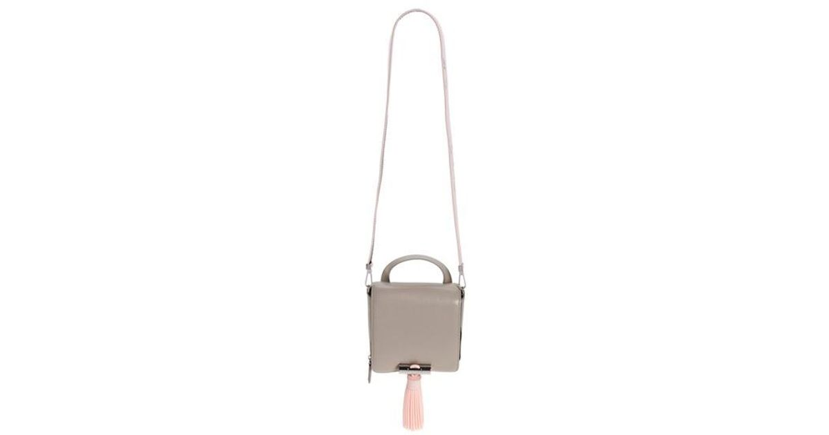1b54e94c0f Lyst - KENZO Sailor Leather Crossbody Bag in Gray