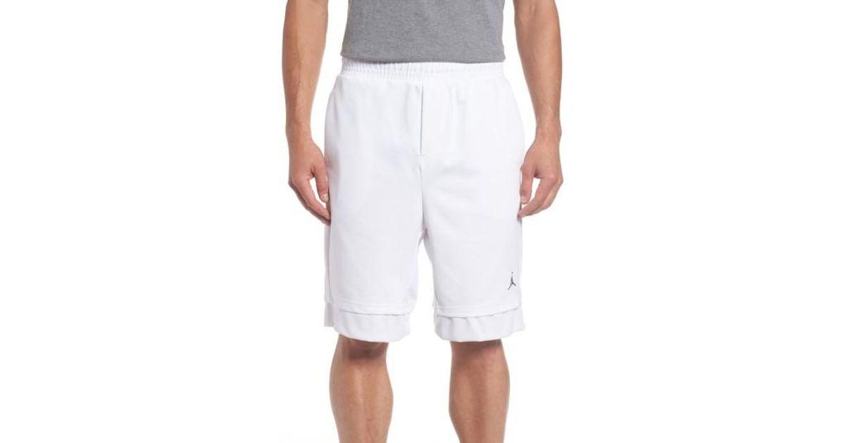 d6c482e67b39 Lyst - Nike Jordan Lux Training Shorts in White for Men