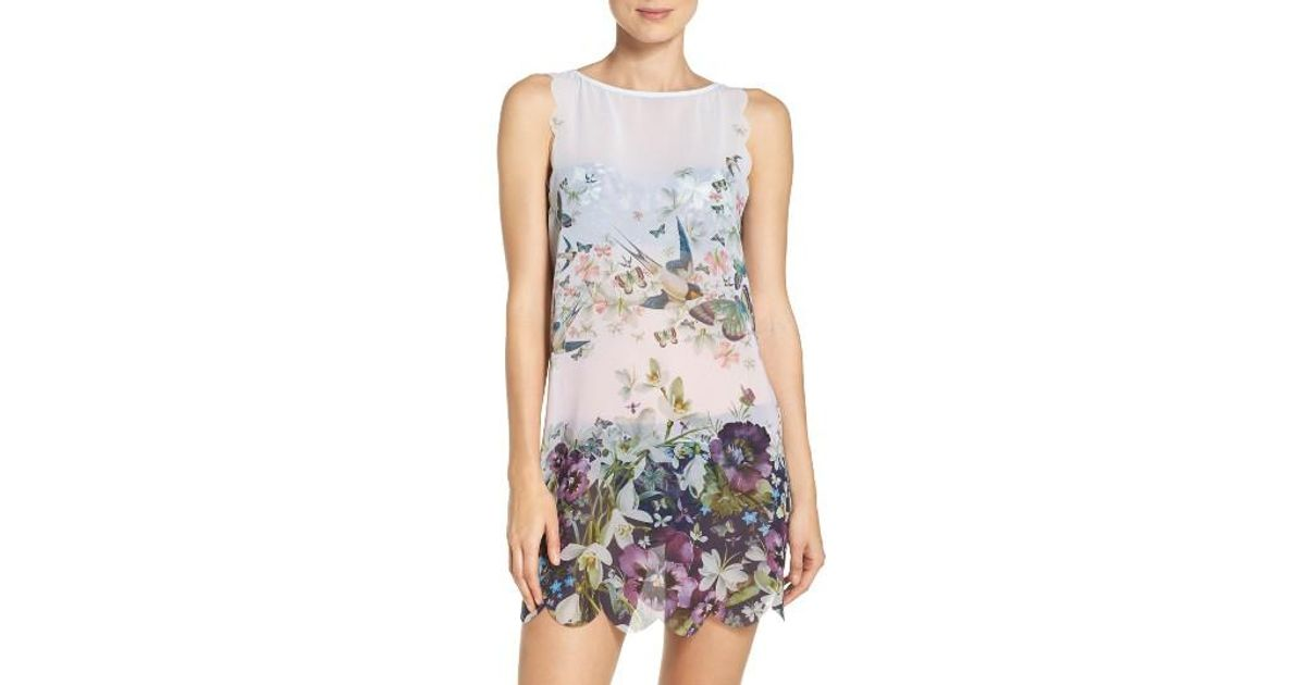 Ted baker Enchantment Cover-up Dress in Blue | Lyst