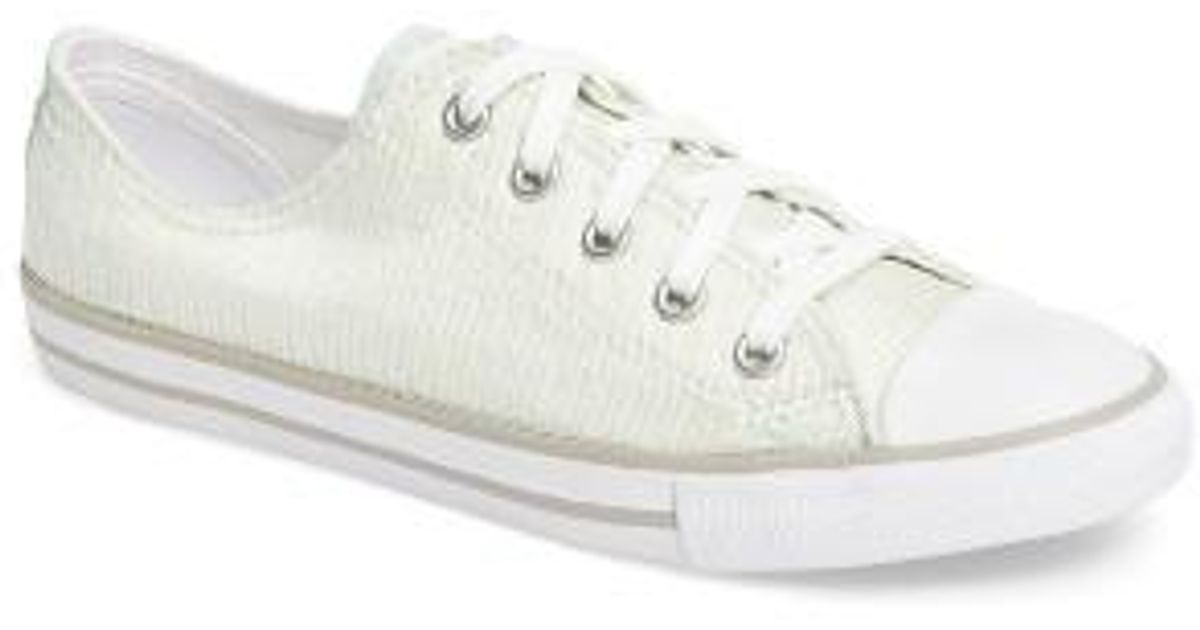 cf87f27c453 Lyst - Converse Chuck Taylor All Star Dainty Low Top Sneaker in White