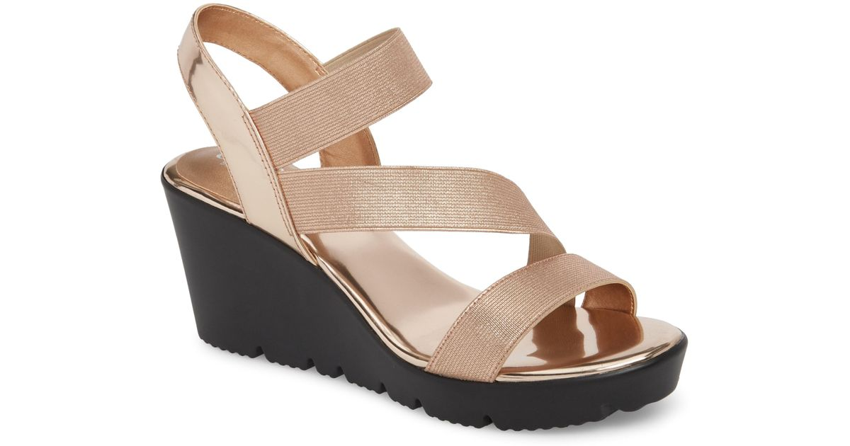 ad5bab41eb7 Lyst - Charles David Vent Wedge Sandal in Pink