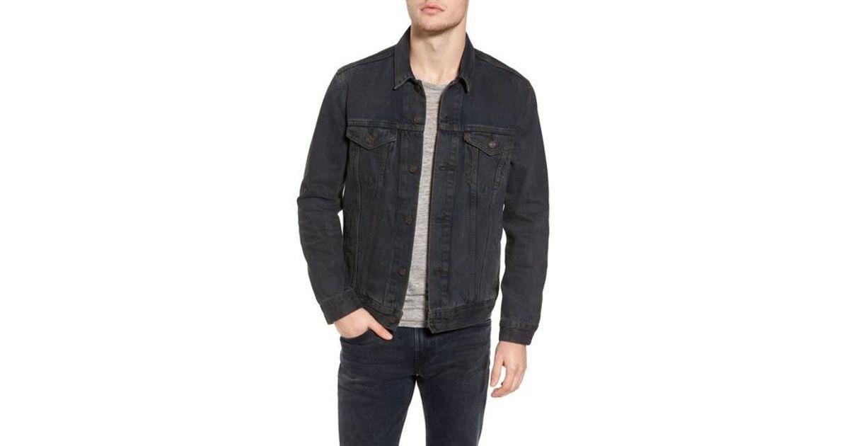 8098f87771 Lyst - Levi s Levi s Trucker Denim Jacket in Black for Men