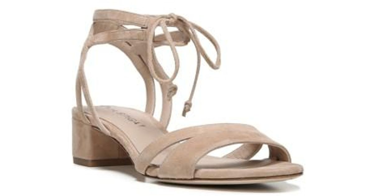 fcc511d020 Via Spiga Taryn Block Heel Sandal in Natural - Lyst