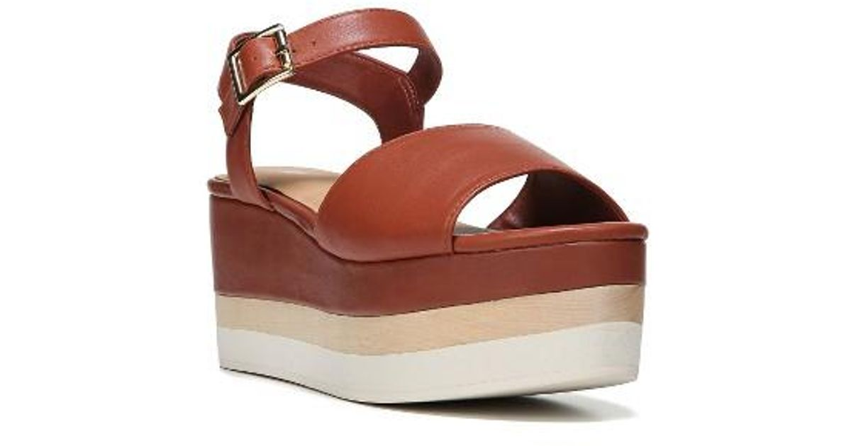 d33b20307b4 Lyst - Dr. Scholls Corinne Layered Platform Sandal in Brown