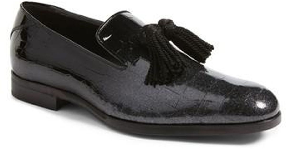 27d02da727e Lyst - Jimmy Choo  foxley  Ombre Glitter Tassel Loafer in Black for Men
