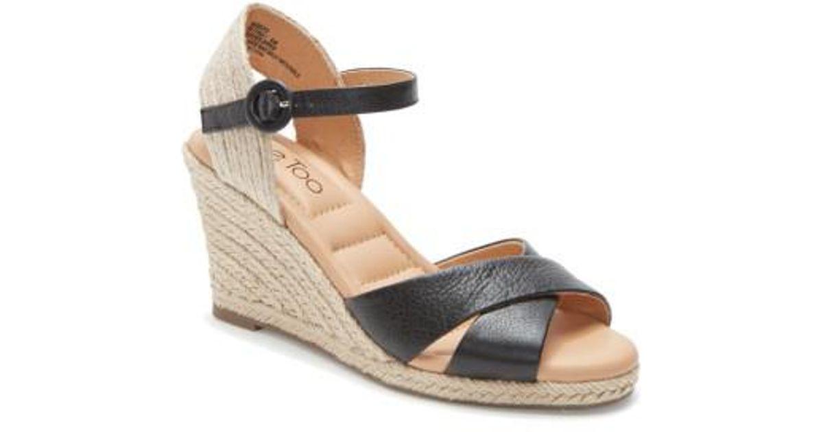 210ec3fb54f Lyst - Me Too Bettina Espadrille Wedge Sandal in Black