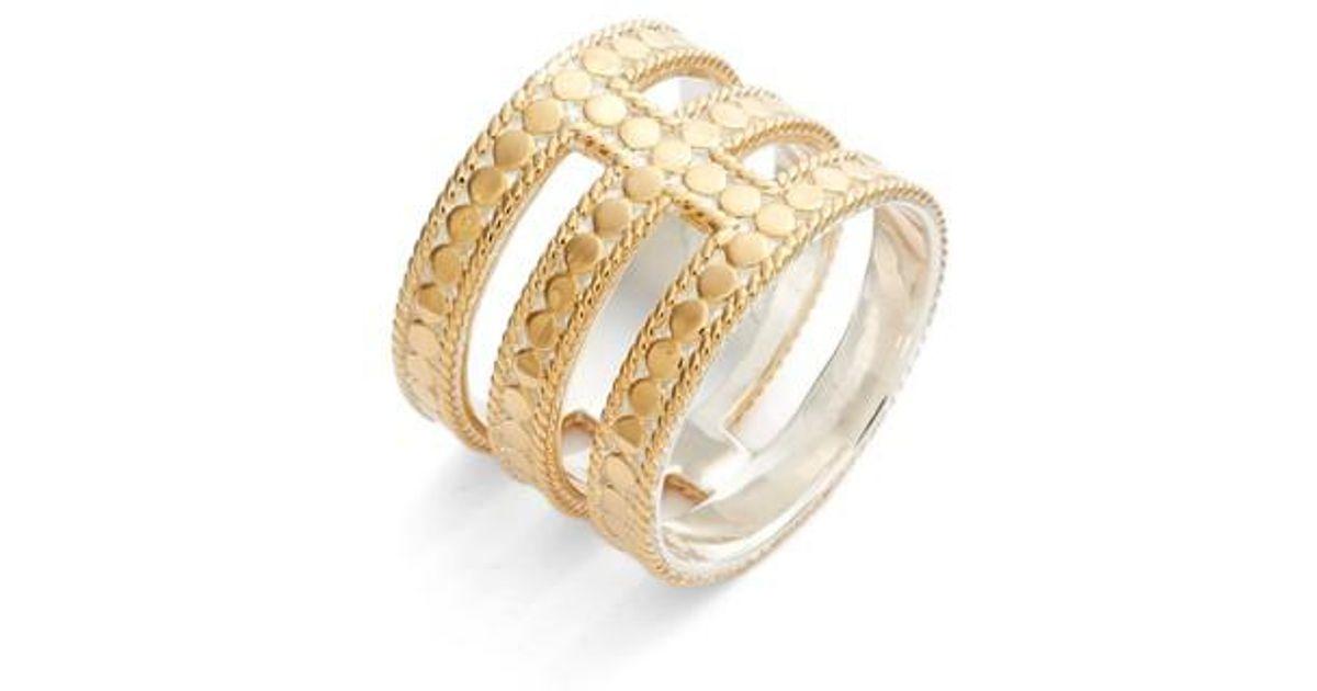 a7a1c5fb1 Anna Beck Gili Cutout Ring in Metallic - Lyst