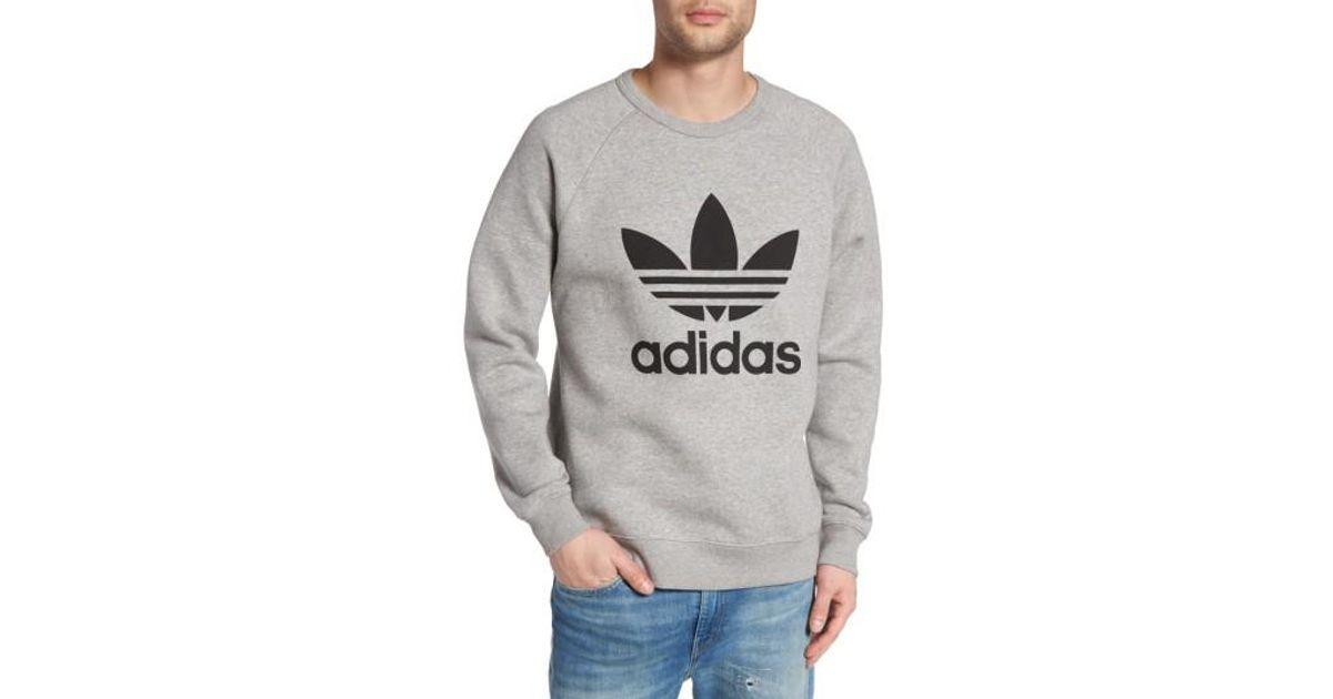 2d93e55ba adidas-originals-Medium-Grey-Heather-Black-Trefoil-Graphic-Sweatshirt.jpeg