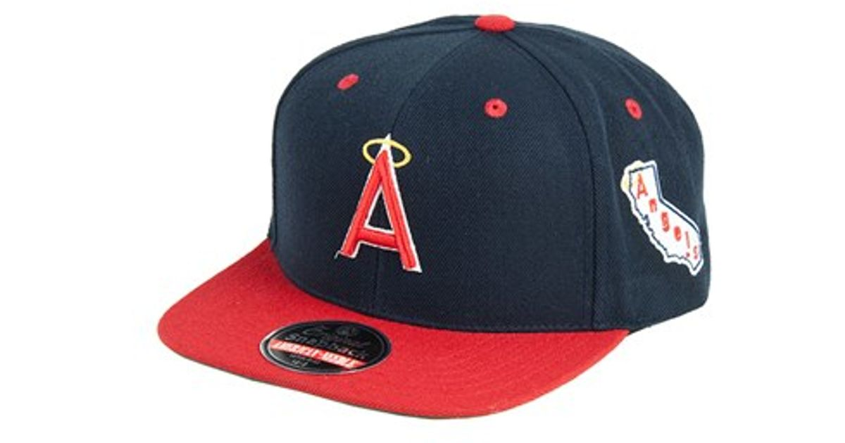 dc3ffb1b3f83a Lyst - American Needle  anaheim Angels - Blockhead  Snapback Baseball Cap  in Blue for Men