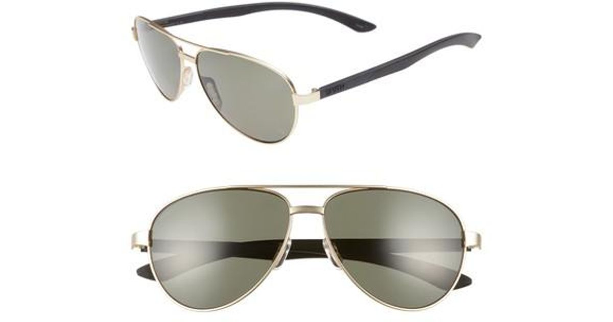 8438958974 Lyst - Smith Salute 59mm Polarized Aviator Sunglasses in Metallic for Men