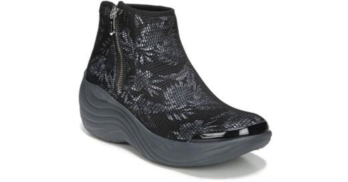 BZEES Mojo Strappy Mid Wedge Boot