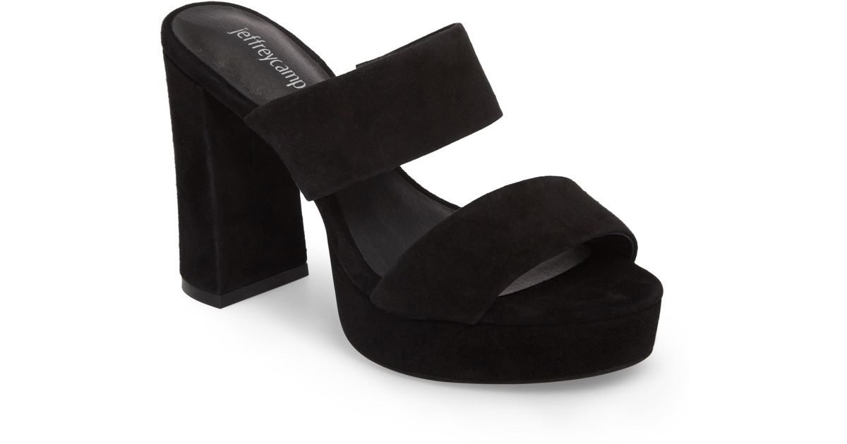 b003c4bd35c2 Lyst - Jeffrey Campbell Adriana Double Band Platform Sandal in Black