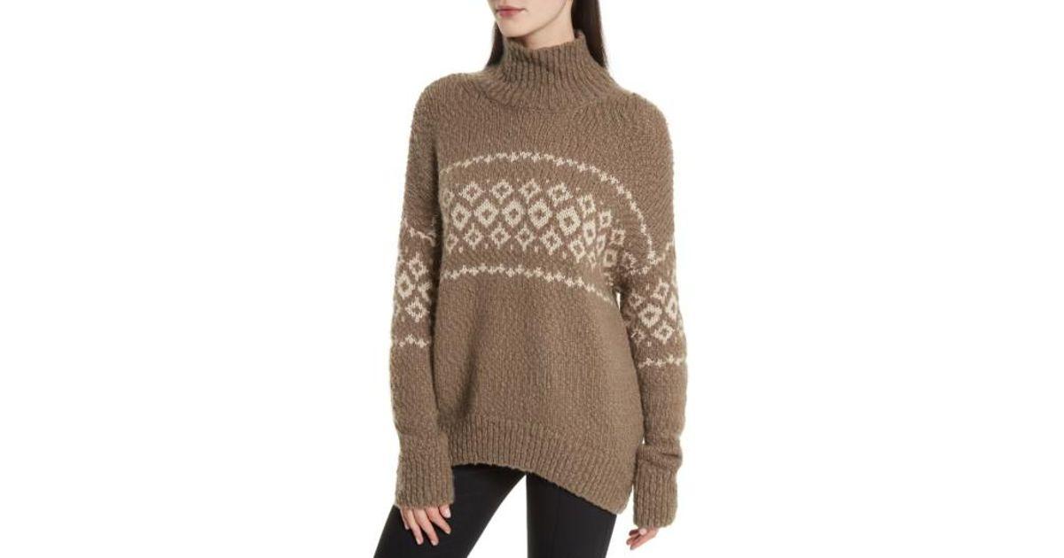 Lyst - Vince Fair Isle Turtleneck Sweater