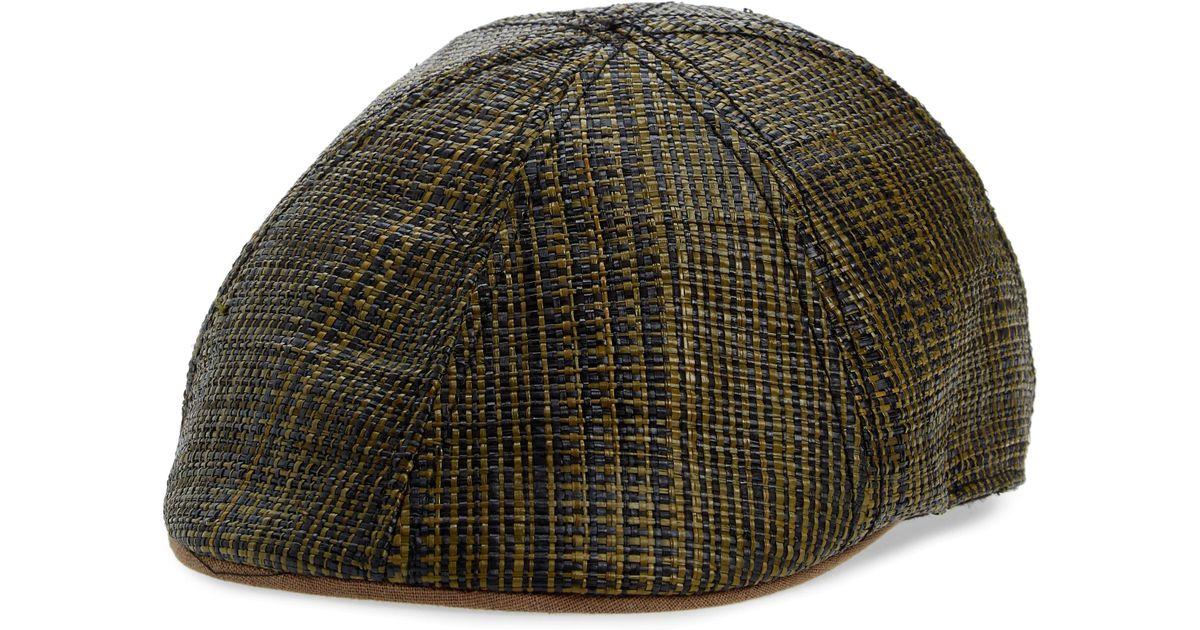 d58d7e0ec7946 Lyst - Goorin Bros Dockside Straw Driving Cap in Brown for Men