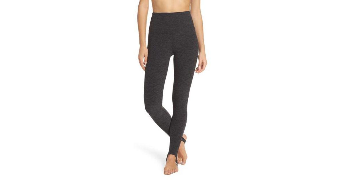 b2b098f355930 Lyst - Beyond Yoga High Waist Stirrup Leggings in Black