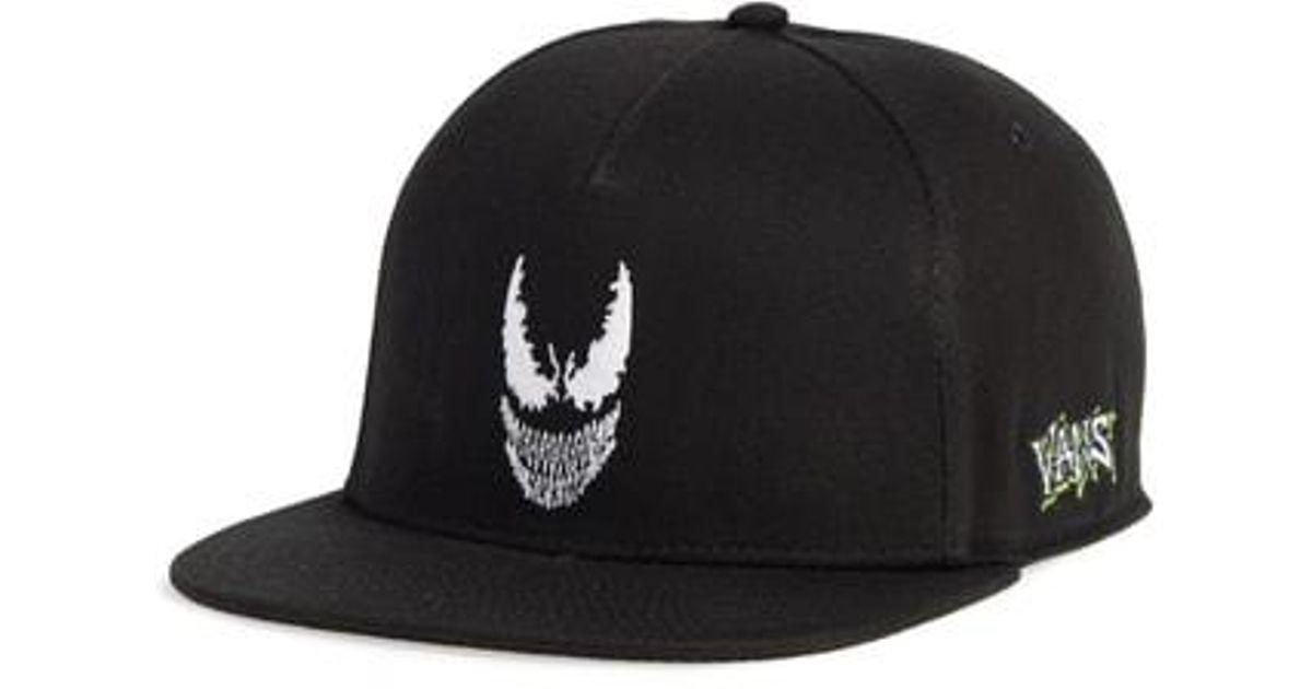 Lyst - Vans X Marvel Venom Snapback Baseball Cap - in Black for Men 9d308d0bd31b