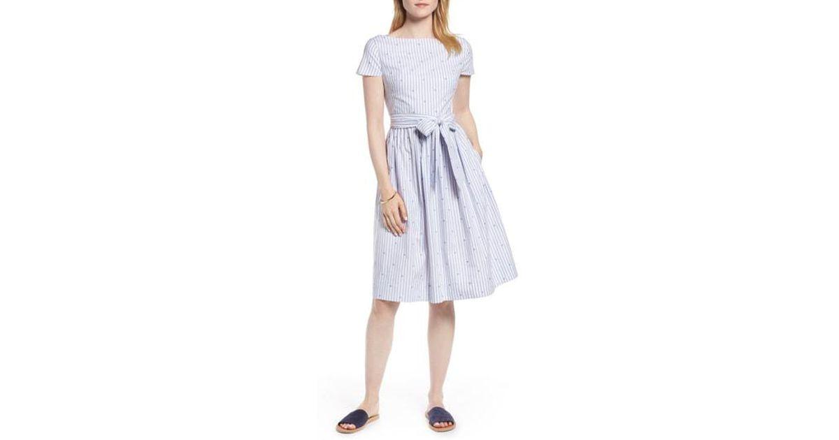 8dde6c4417a Lyst - Nordstrom 1901 Stripe   Dot Cotton Dress in Blue