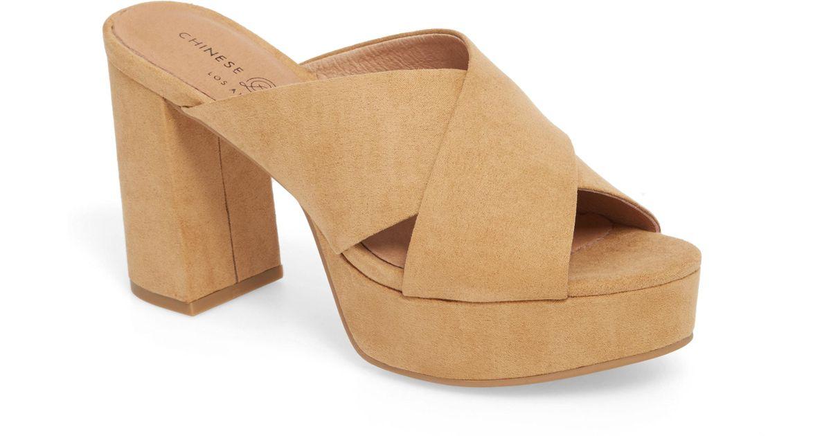 e450c6d63e5 Lyst - Chinese Laundry Teagan Cross Strap Platform Sandal in Brown