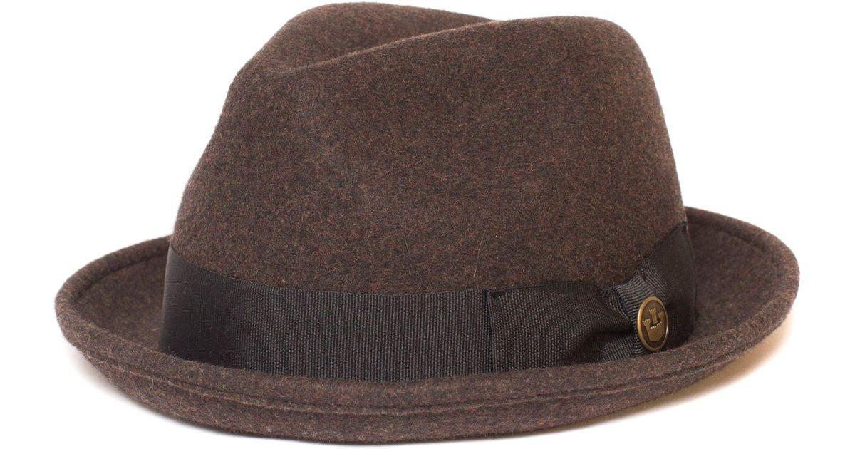 7ddcca85c82a2e Lyst - Goorin Bros The Good Boy Felt Wool Fedora in Brown for Men