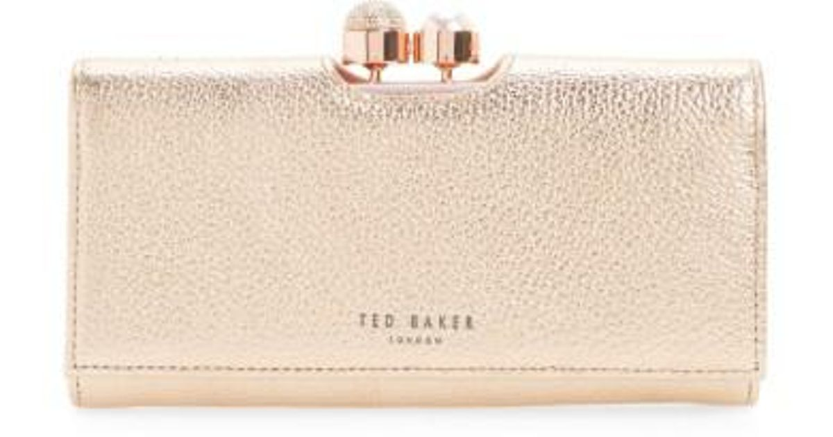 a2b7bc78e22a8f Lyst - Ted Baker Marta Bobble Matinee Leather Wallet in Pink 100% genuine  bba94 92e2d ...