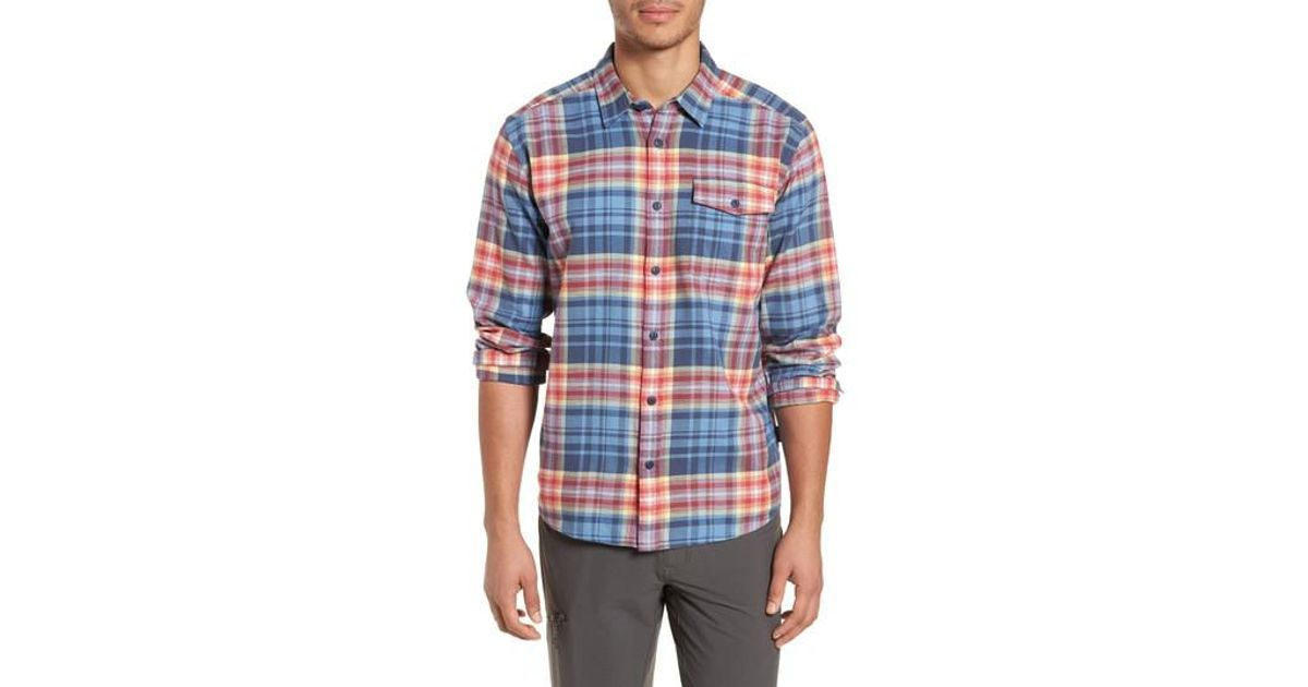 361030abb207 Lyst - Patagonia Regular Fit Organic Cotton Flannel Shirt in Blue for Men