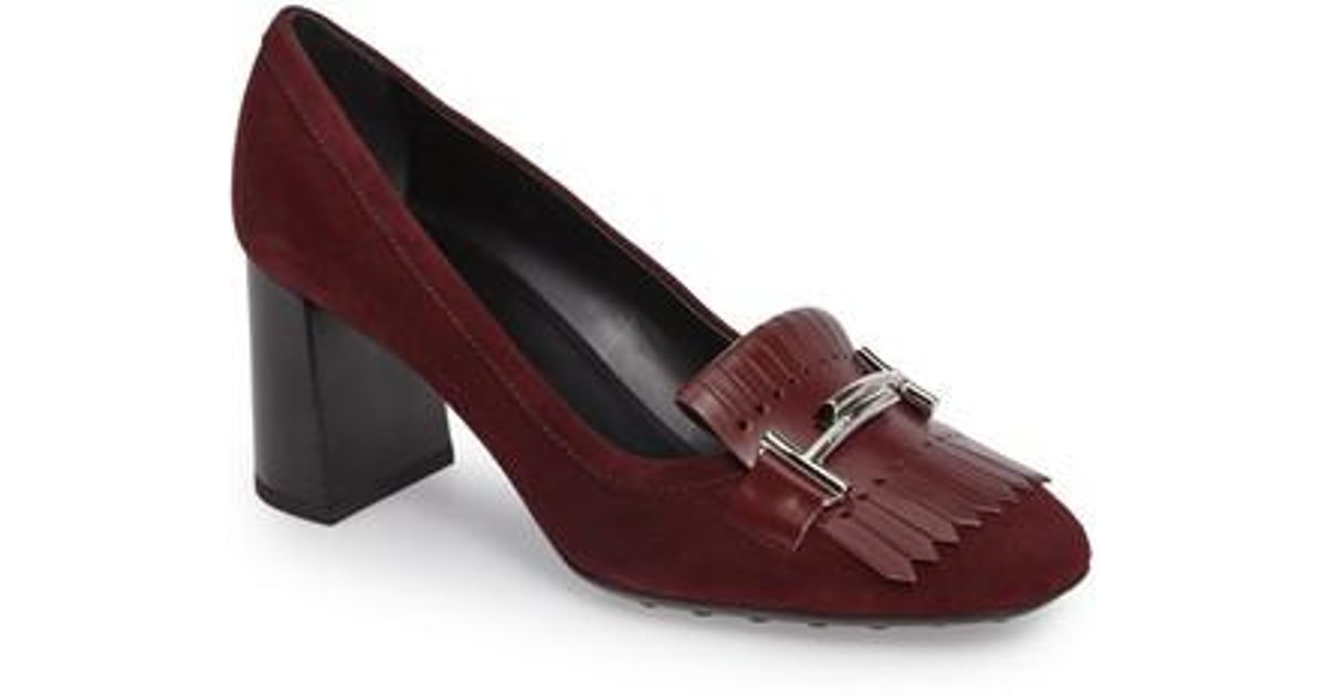 Tod's Suede Kiltie Pumps cheap sale best prices sale low cost buy cheap 2014 new discount footlocker finishline free shipping sale EaxpSm