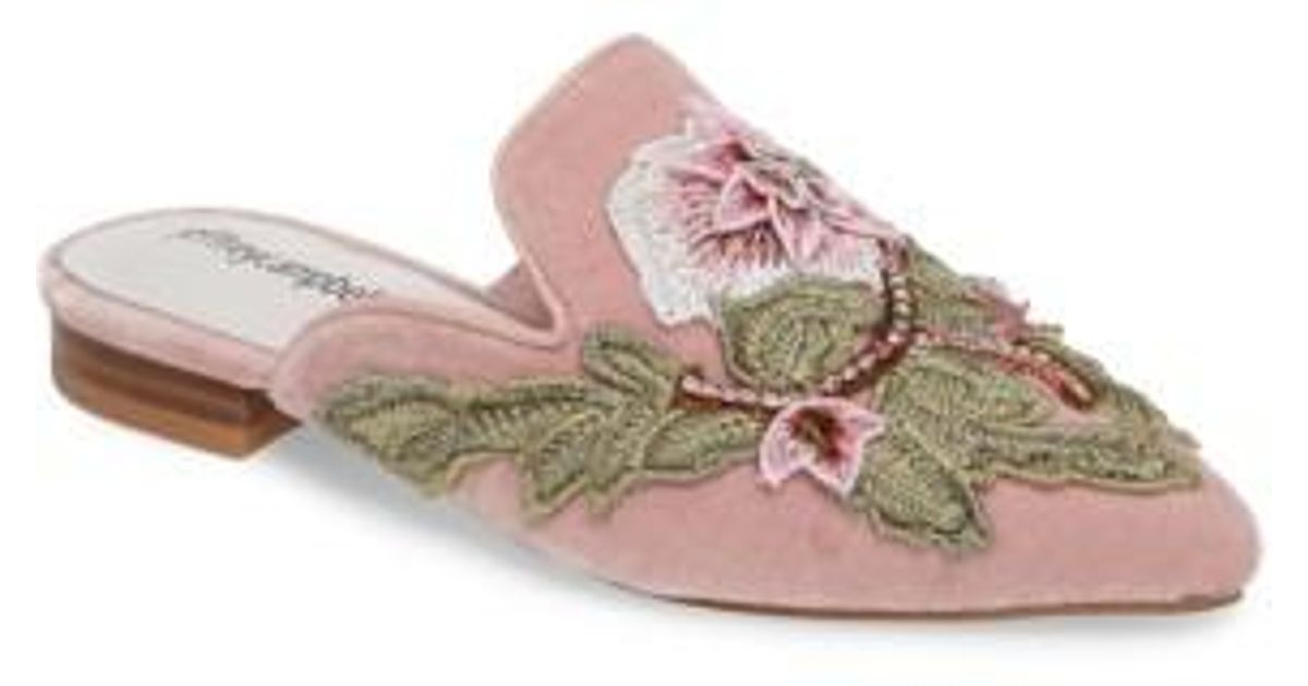 c210c9ed3e352 Jeffrey Campbell Claes Applique Loafer Mule in Pink - Lyst