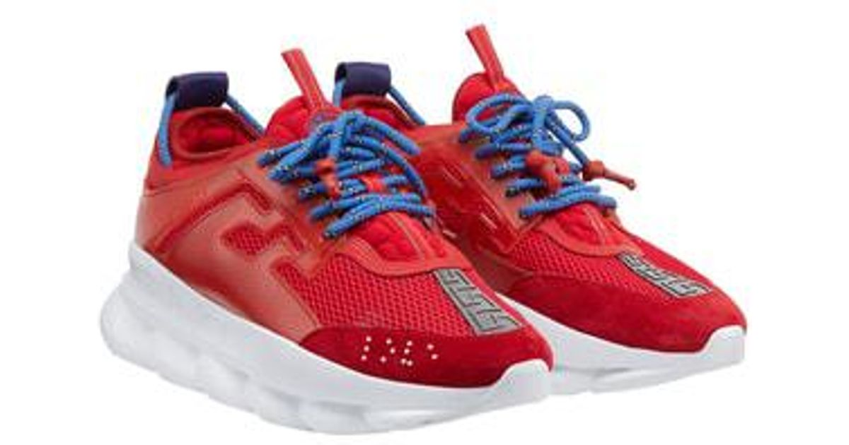 b93d2afae37 Versace - Red Chain Reaction Sneaker - Lyst