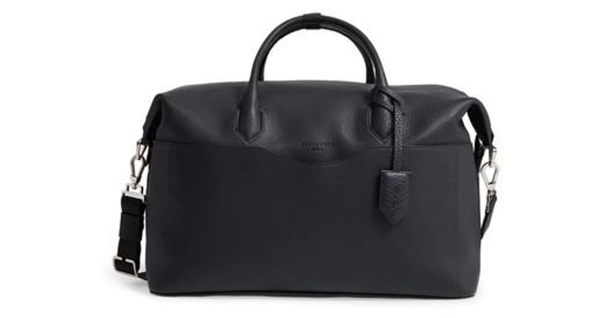 Lyst - Longchamp Ulysse Leather Travel Bag in Black 3d60da0633802